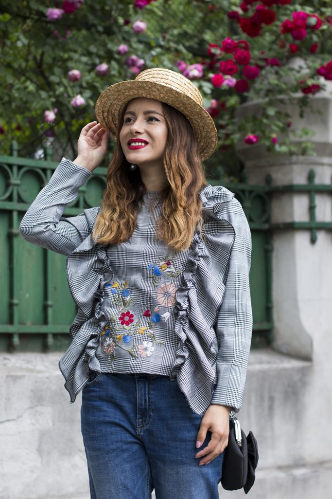 adina nanes ruffled blouse
