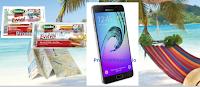 Logo Concorso Amadori e vinci 20 Samsung Galaxy A5 e viaggio alle Maldive