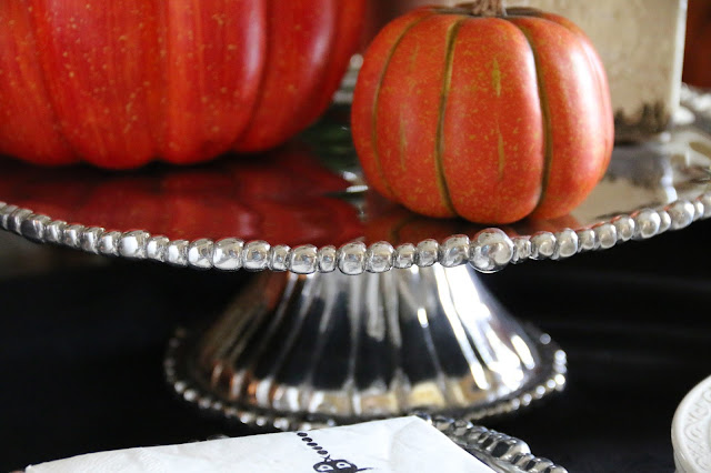 pumpkins and beatriz ball pearl cake plate