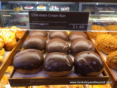 chocolate cream buns at Sheng Kee Bakery in Berkeley, California