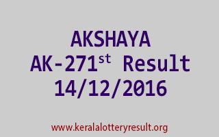 AKSHAYA AK 271 Lottery Results 14-12-2016