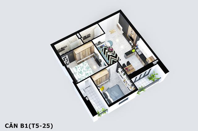 Thiết kế căn B1 Tabudec Plaza