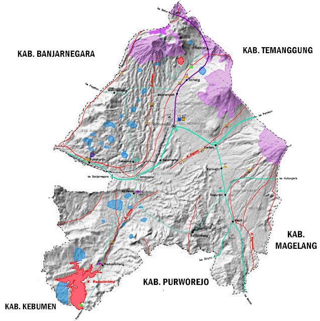 Gambar Peta infrastruktur Kebupaten Wonosobo