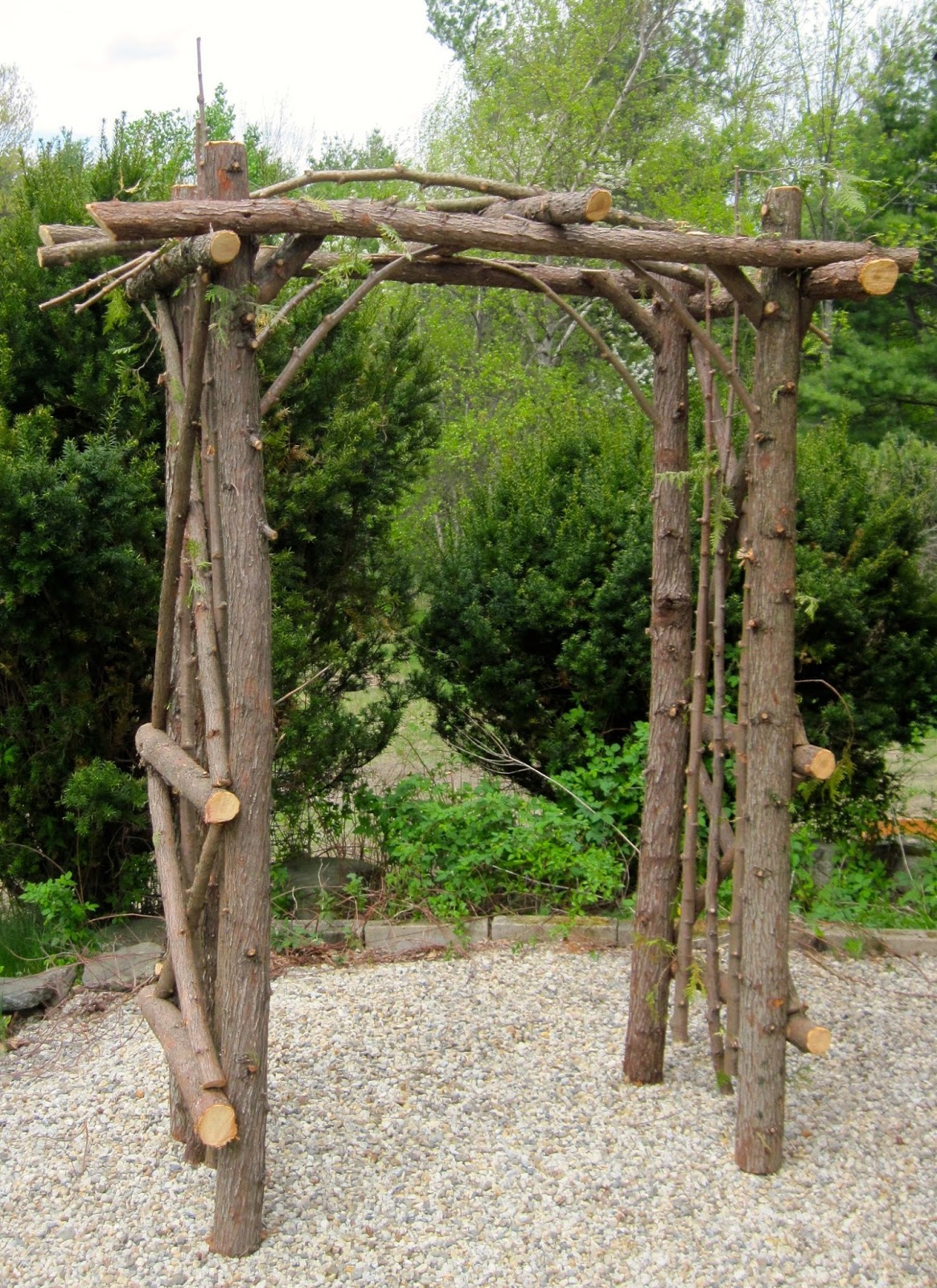 Go Rustic!: Rustic Wedding Arbors and Decorations.