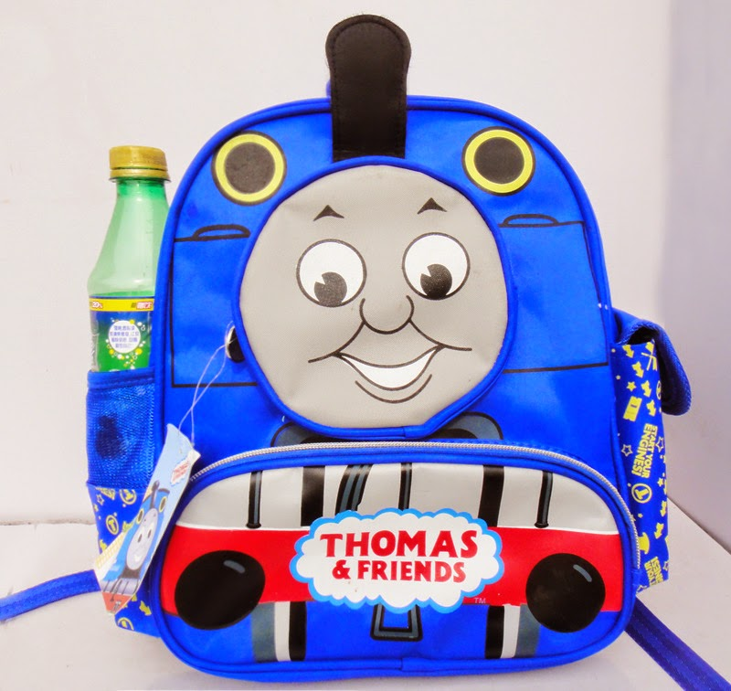Gambar tas thomas and friend warna biru untuk anak sekolah