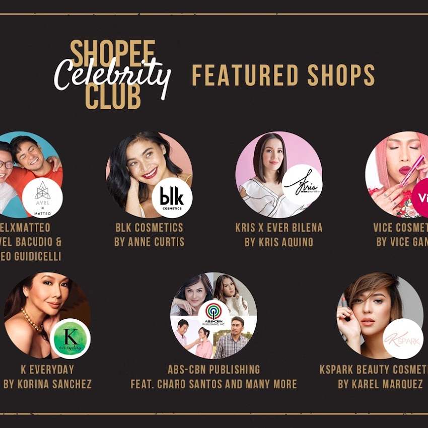 "Shopee Launches ""Shopee Celebrity Club"" In Collaboration with Top Filipino Celebrities 