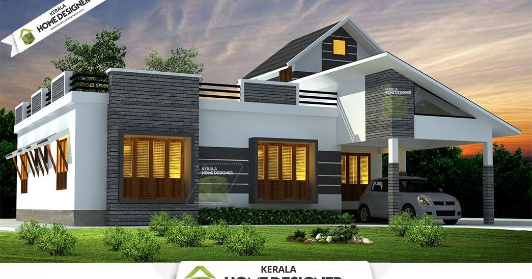 1676 sqft 3 bhk single floor low cost kerala home design for Illuminazione design low cost