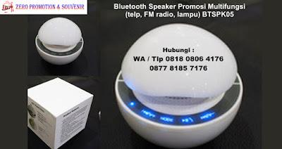 Bluetooth Speaker Promosi Multifungsi (telp, FM radio, lampu) BTSPK05