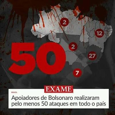 Reprodução demanchete da imprensa com ataques de correligionários de Bolsonaro