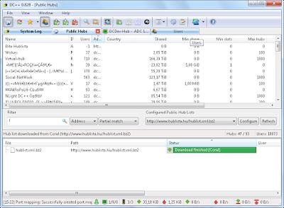 DC++ : Εφαρμογή  P2P ανταλλαγής αρχείων