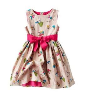 Dress batik anak perempuan modern