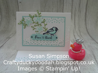 Stampin' Up! UK Independent  Demonstrator Susan Simpson, Craftyduckydoodah!, Petal Palette, Coffee & Cards Project February 2018, Supplies available 24/7 from my online store,
