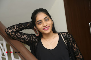 Actress Punarnavi Bhupalam Stills in Black Dress at Pittagoda Press Meet  0166.JPG