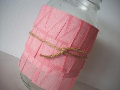 Dear Lizzie ruffle paper on mason jar