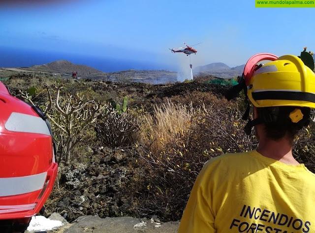 Sofocado ayer un conato de incendio en Villa de Mazo