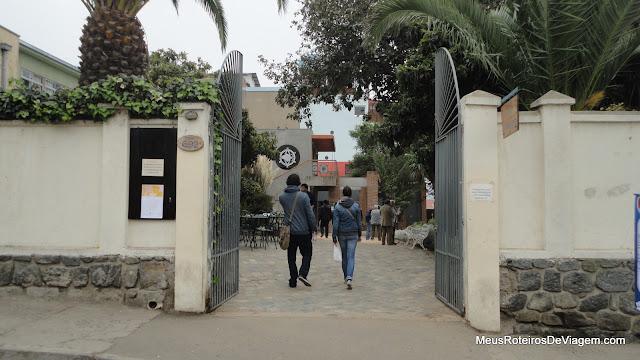 Portão de entrada do Museu La Sebastiana - Valparaíso, Chile