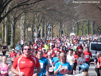 Marathon Hamburg, großes Läuferfeld