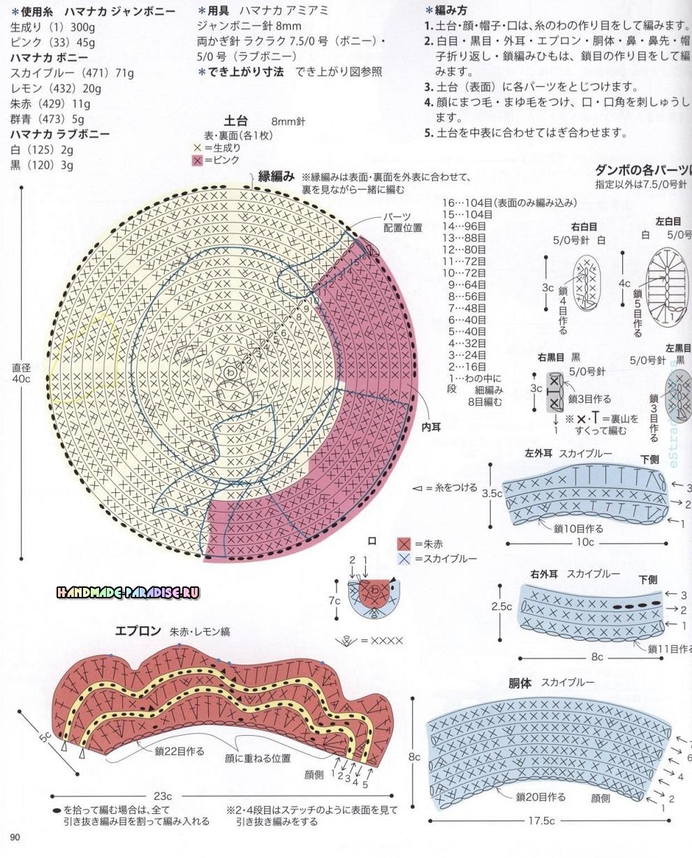 Схемы вязания сидушек в форме кошечки, олененка и слоника (5)