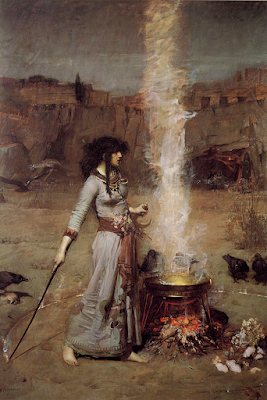 Magick Circle, J.W. Waterhouse (1886)