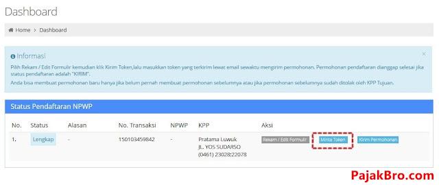 Daftar NPWP Online, Daftar Pajak Online, Formulir NPWP