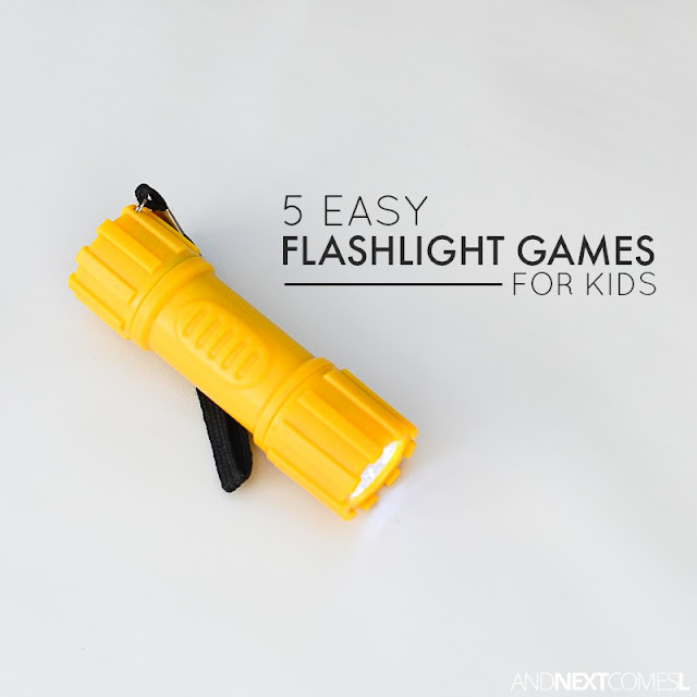 5 flashlight activities for kids - perfect boredom busting ideas from And Next Comes L