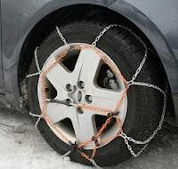 Montaje de cadenas para el coche