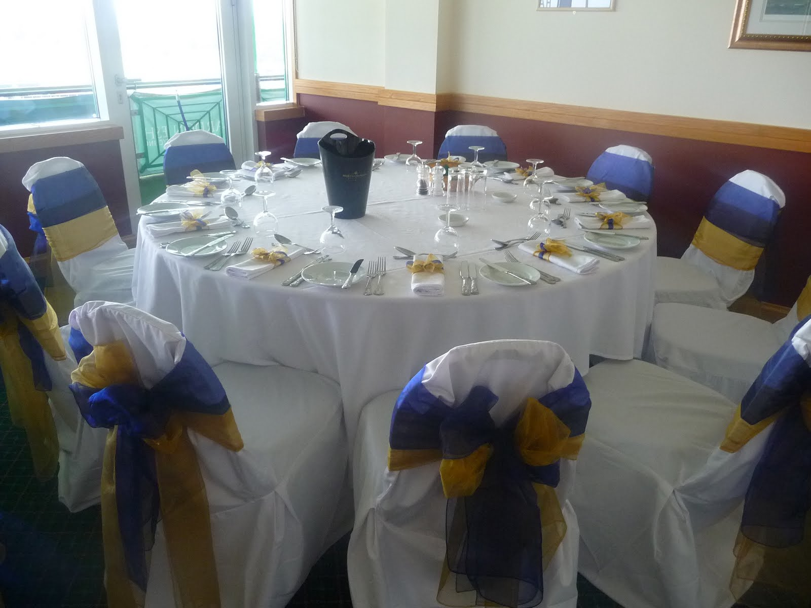 simply bows and chair covers newcastle for bathtub racing splendour northumberland hadrian healthcare box royal blue gold