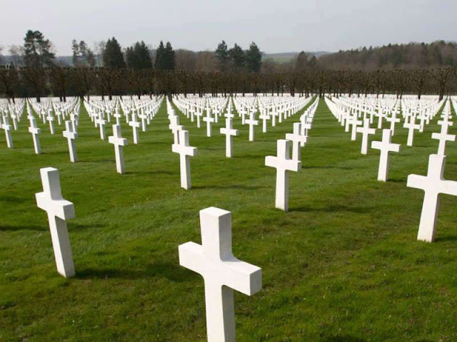 "TOI  TOP NEWSVIDEOSLIVE TVCITY NEWS WORLD 100 years ago, US fought its deadliest battle in France AP |  Updated: Sep 23, 2018, 12:44 IST  AP A view of rows of crosses of American World War I soldiers at the Meuse-Argonne American cemetery in Romagne-sous-Montfaucon. PARIS: It was America's deadliest battle ever, with 26,000 US soldiers killed, tens of thousands wounded and more ammunition fired than in the whole of the Civil War. The Meuse-Argonne offensive of 1918 was also a great American victory that helped bringing an end to World War 1. A remembrance ceremony will take place on Sunday afternoon in the Meuse-Argonne cemetery, which is surrounded by green fields and forests in Romagne-sous-Montfaucon, a village in northeastern France. More than 14,000 graves will be lit with candles to honor those buried there. Early Sunday, volunteers began reading the soldiers' names aloud, while others were in charge of placing candles on all the crosses. Covering 52 hectares (130 acres), Meuse-Argonne is the largest American cemetery in Europe.  William M. Matz, secretary of the American Battle Monuments Commission (ABMC) that maintains the site, told The Associated Press that this piece of history must be retold to younger generations. ""I think it's important for their teachers, their parents to bring them to these beautiful sites, let them walk through the rose of crosses, let them look at the walls of remembrance, let them go into the cemetery chapels and let them learn the history of what these men did 100 years ago,"" he said. ""It's because of their brave deeds, their acts of valor and courage and commitment ... that these young folks are able to live and enjoy the life that they're living,"" he added. During seven weeks of combat, 1.2 million American troops led by Gen. John J. Pershing fought to advance on the entrenched positions held by about 450,000 Germans in the Verdun region.  The offensive that started on Sept. 26, 1918, was one of several simultaneous Allied attacks that brought the war which started in 1914 to an end, leading the Germans to retreat and sign the armistice on November 11. Pershing said ""the success stands out as one of the very great achievements in the history of American arms."" At the cemetery, eight wide grave sections with long regular rows of crosses stretch between the trees on the gentle slopes of a hill. On top is a chapel where the names of 954 missing American soldiers, whose bodies were never found or identified, are engraved. ADD COMMENT  Download the Times of India News App for Latest World News. RELATED STORIES   TOP TRENDS Ayushman Bharat liveIndia vs PakistanAyushman Bharat schemeImran KhanTSLPRB Hall TicketsRafale dealInd vs Pak Live streamingGanesh VisarjanBalapur ladduInfosysNewsSatta King 2018Satta King OnlineMuharram 2018India Vs Bangladesh Preview ABOUT US 