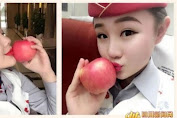 China is a trend in selling apples kissed stewardess