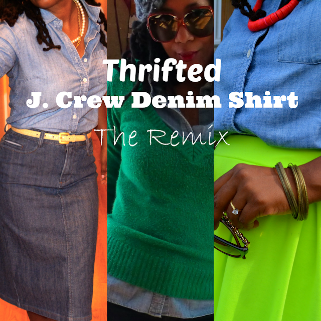 wearing thrifted-j-crew-shirt