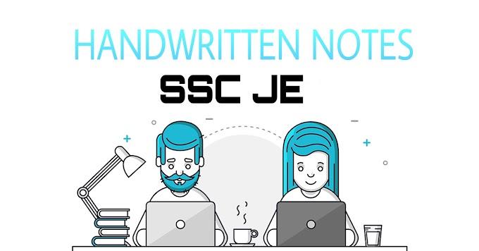 DOWNLOAD SSC JE CIVIL ENGINEERING HANDWRITTEN NOTES PDF [PAPER-2]