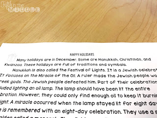 Happy Holiday Close Reading Text