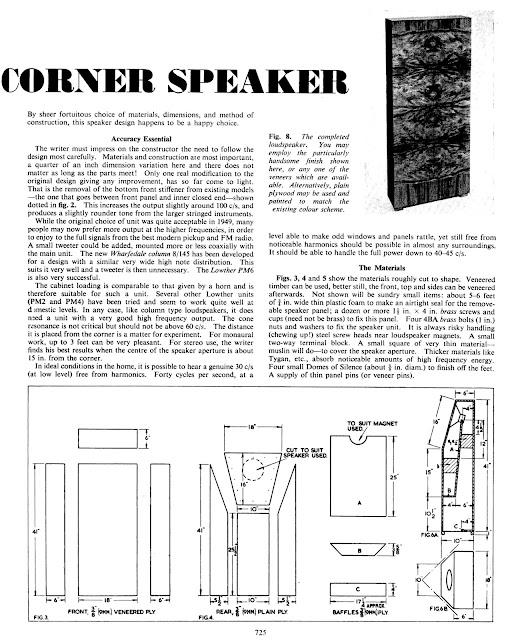 retro vintage modern hi-fi: Corner horn