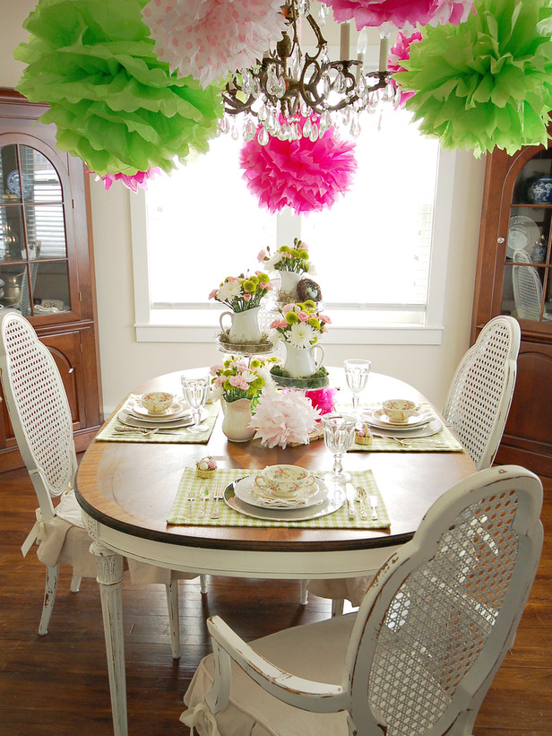 Food drinks party spring table setting ideas - Dining table setting ideas ...