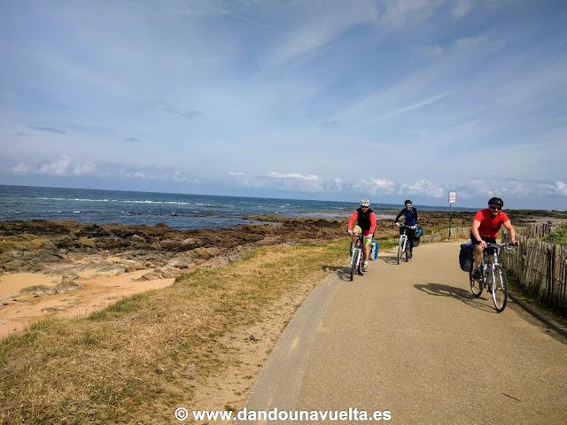 Viaje en bici por el Atlántico en La Velodyssee, Francia