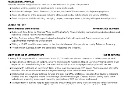 My World Of Work Cv Template