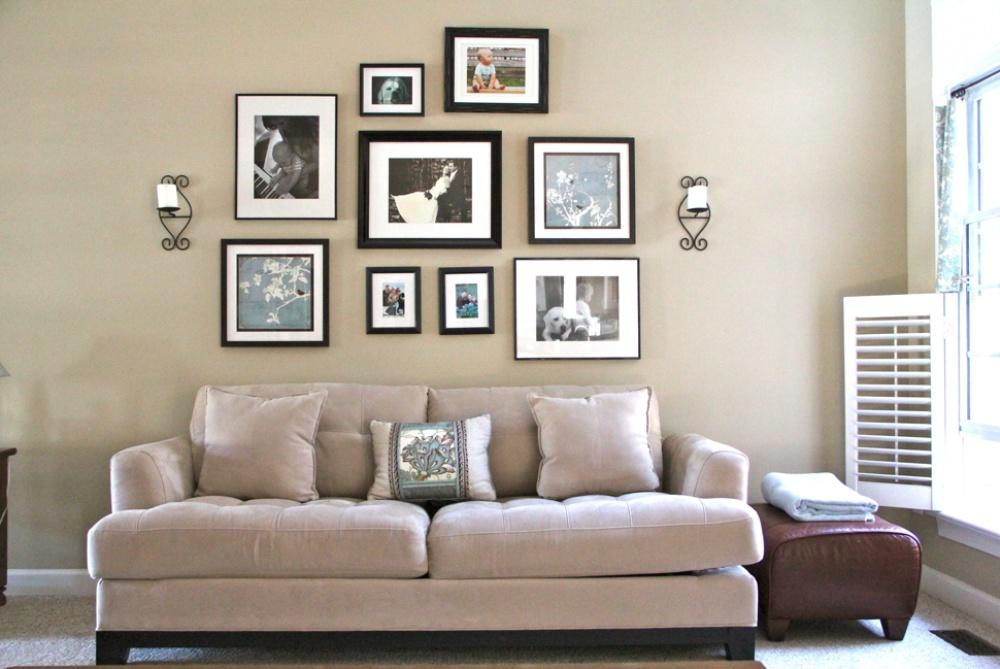 Frame Gambar Di Ruang Tamu Desainrumahid