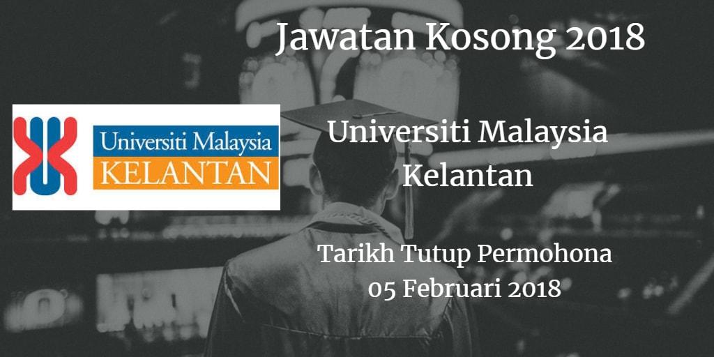 Jawatan Kosong UMK 05 Februari 2018