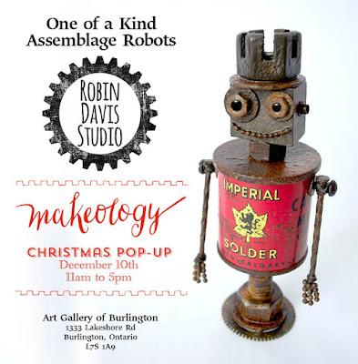 Assemblage Robots by Robin Davis Studio