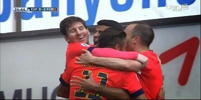 LFP-Week-33 : Espanyol 0 vs 2 Barcelona 25-04-2015