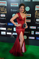 Natasha Nebasha in a Leg Slit Sleeveless Stunning Red Gown at IIFA Utsavam Awards 2017 004.JPG