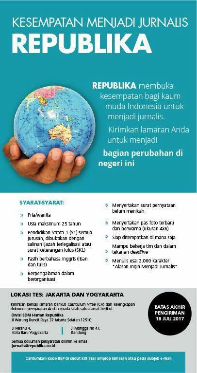 Lowongan Kerja di Republika Jakarta