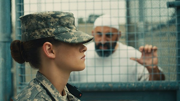 Footage from the movie trailer Camp X-Ray