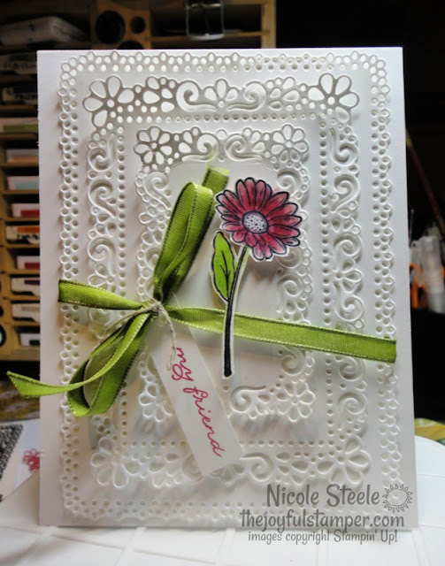 Ornate Garden Suite | Stampin' Up! | all white | thinking of you card | clean and simple