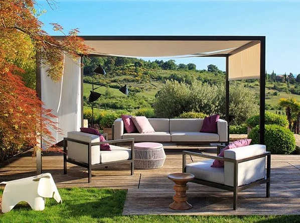 Gambar Desain Dekorasi Ruang Tamu Terbuka Sederhana