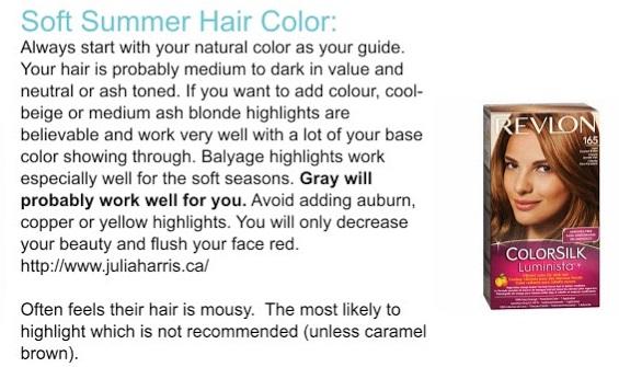 Hair By Season Soft Summer