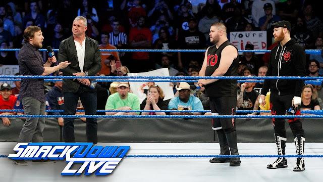 Shane Mcmahon and Daniel Bryan vs Sami Zayn and Kevin Owens