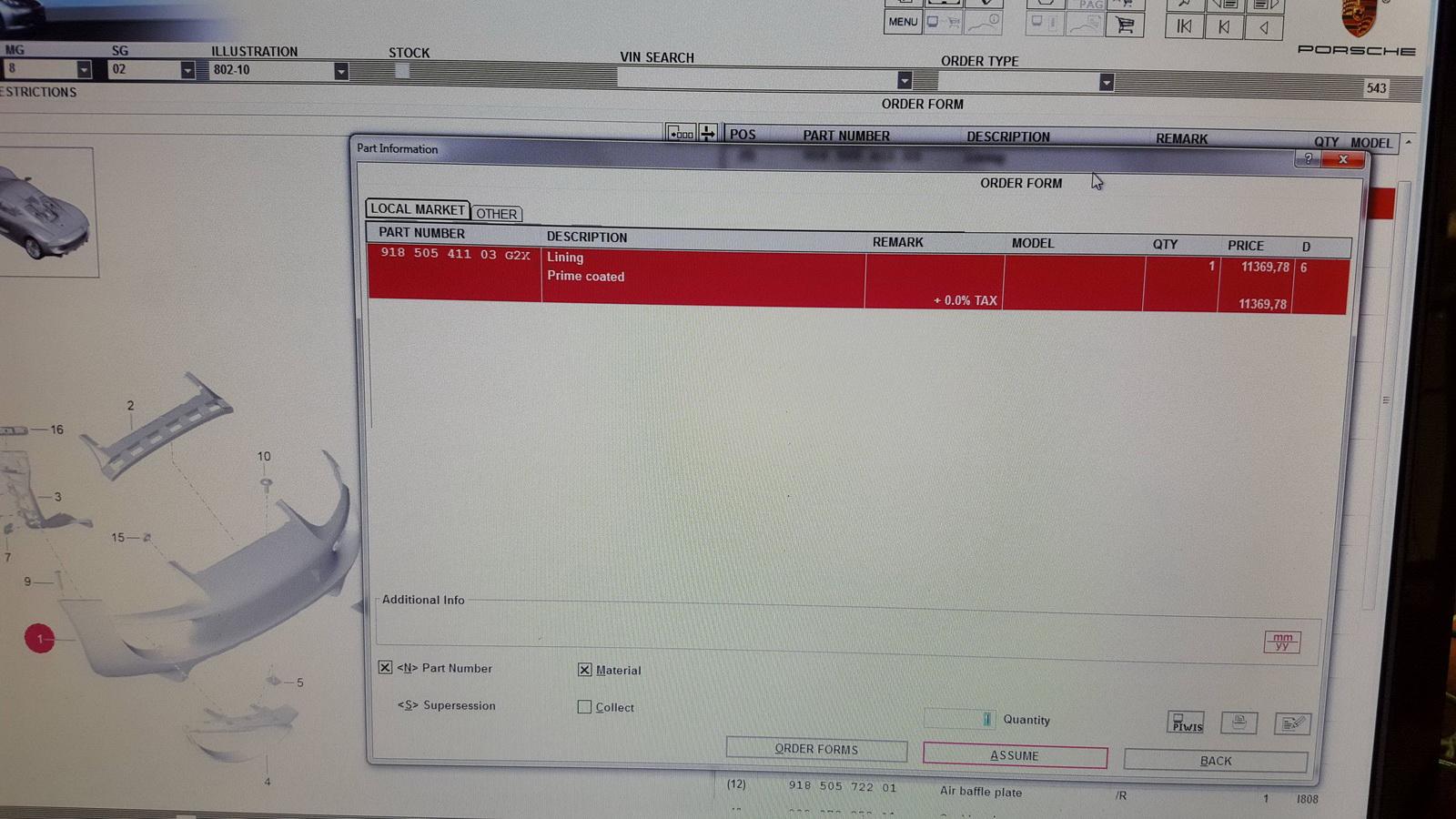 porsche 918 parts pricelist revealed it s eye watering engine photo gallery