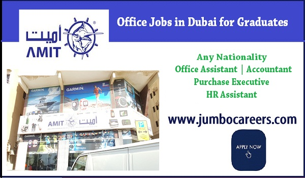 Dubai office jobs for Indians, Recent Dubai job vacancies,