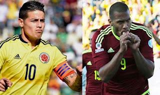 Colombia vs Venezuela en eliminatoria Sudamericanas Rusia 2018